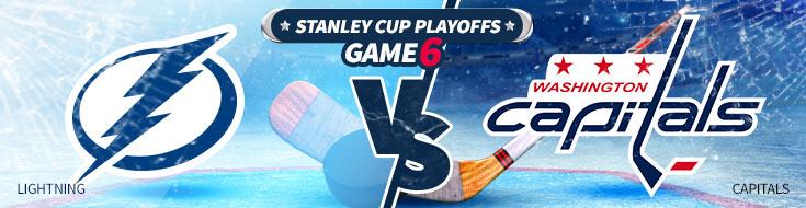 Tampa Bay Lightning vs. Washington Capitals NHL Betting Odds Game 6