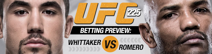 UFC 225 Betting Odds Whittaker vs. Romero
