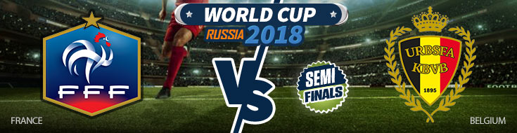France vs. Belgium World Cup Betting