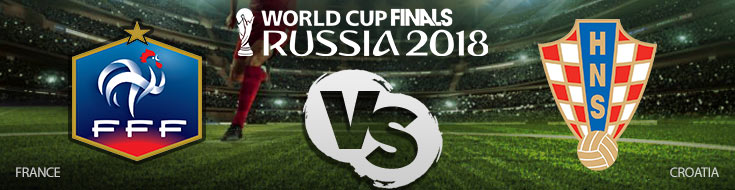 France vs. Croatia World Cup Betting Finals