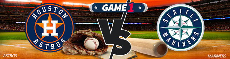 Houston Astros vs. Seattle Mariners Team Logos - MLB Betting Preview