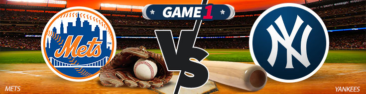 An Image previewing the New York Mets vs. New York Yankees MLB betting matchup