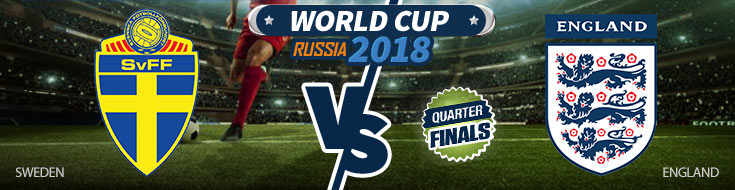 Sweden vs. England World Cup Quarterfinals