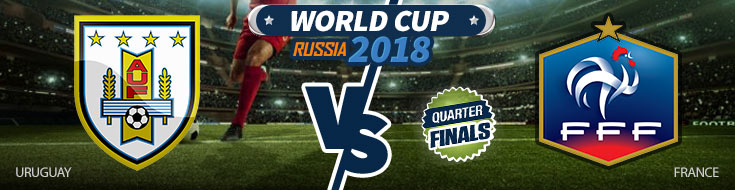 Uruguay vs. France World Cup Quarterfinals