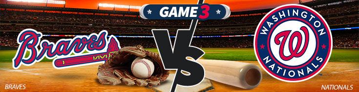 Atlanta Braves vs. Washingotn Nationals Team Logos - MLB Betting Preview