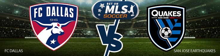 FC Dallas vs. San Jose Earthquakes team Logos and Betting Preview