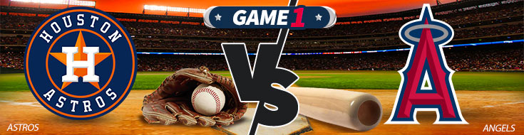 Houston Astros vs. Los Angeles Angels Team Logos and Sportsbook Odds