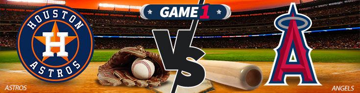 Houston Astros vs. Los Angeles Angels Team Logos and Sportsbook Odds