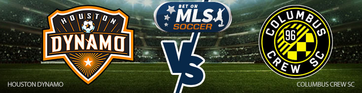 Houston Dynamo vs. Columbus Crew SC Team Logos - MLS Betting Preview