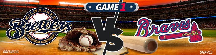 Milwaukee Brewers vs. Atlanta Braves Team Logos - MLB Betting Preview