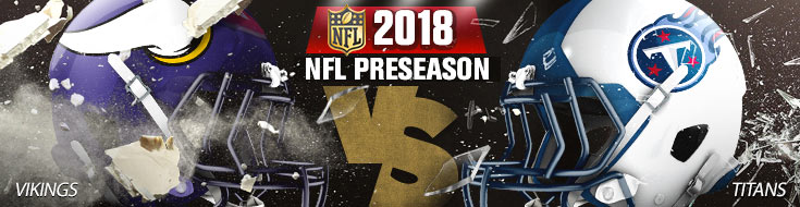 Minnesota Vikings vs. Tennessee Titans Team Logos and Preseason Betting Prevewi