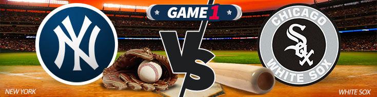 New York Yankees vs. Chicago White Sox Logos - MLB Betting Picks