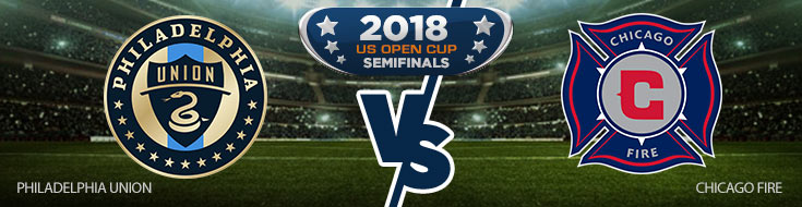 Philadelphia Union vs. Chicago Fire Team Logos - Betting Preview
