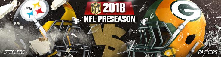 Pittsburgh Steelers vs. Green Bay Packers Team Logos & Betting Odds