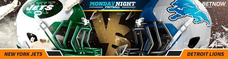 Monday Night Football Betting New York Jets vs. Detroit Lions