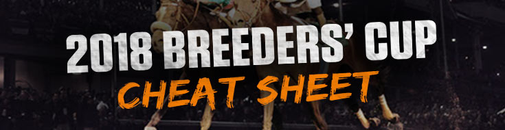 2018 Breeders' Cup Cheat Sheet