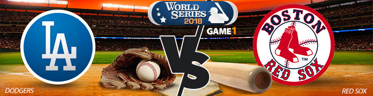 2018 World Series Betting Game 1 Los Angeles Dodgers vs. Boston Red Sox