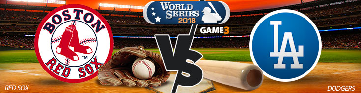 Boston Red Sox vs. Los Angeles Dodgers Game 3 World Series