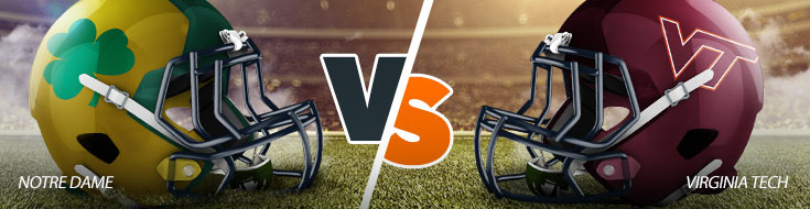 Notre Dame Fighting Irish vs. Virginia Tech Hokies Betting Odds