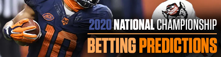 2020 National Championship Betting
