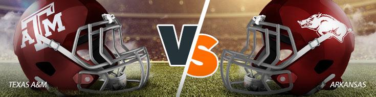 Texas A&M Aggies Vs. Arkansas Razorbacks NCAAF betting odds and picks