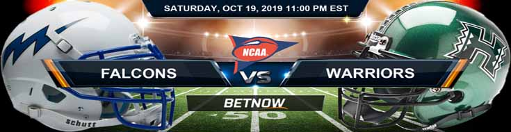 Air Force Falcons vs Hawaii Rainbow Warriors 10-19-2019 Odds, Picks and Preview