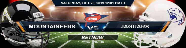 Appalachian State Mountaineers vs South Alabama Jaguars 10/26/2019 Game Analysis, Odds and Previews