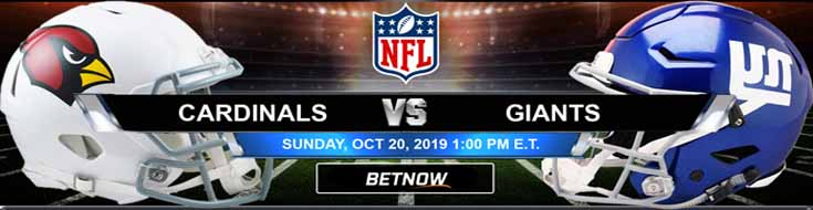 Arizona Cardinals vs NY Giants 10-20-2019 Picks Predictions Previews