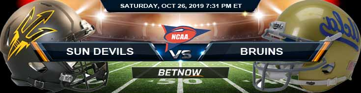 Arizona State Sun Devils vs UCLA Bruins 10-26-2019 Game Analysis Picks and Odds