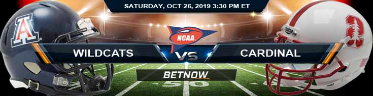 Arizona Wildcats vs Stanford Cardinal 10-26-2019 Picks Predictions Previews