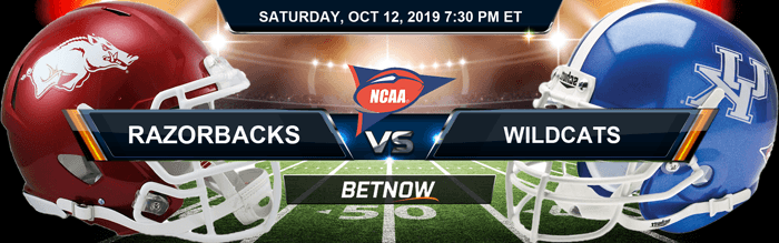 Arkansas Razorbacks vs Kentucky Wildcats 10-12-2019 Odds, Picks and Preview