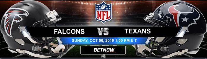 Atlanta Falcons vs Houston Texans 10-06-2019 Odds, Picks and Preview