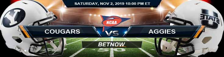 BYU Cougars vs Utah State Aggies 11-02-2019 Picks Predictions and Game Analysis