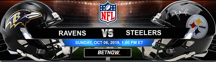 Baltimore Ravens vs Pittsburgh Steelers 10-06-2019 NFL Betting Lines