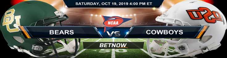 Baylor Bears vs Oklahoma State Cowboys 10-19-2019 Picks Predictions Previews