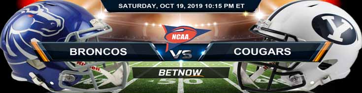 Boise State Broncos vs Brigham Young Cougars 10-19-2019 Picks Predictions Previews