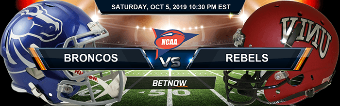 Boise State Broncos vs UNLV Rebels 10-5-2019 NCAAF Betting Picks