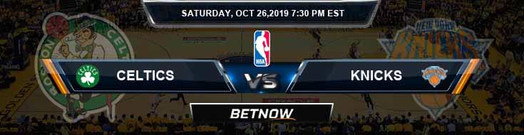 Boston Celtics vs New York Knicks 10-26-2019 NBA Expert Pick and Preview