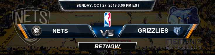 Brooklyn Nets vs Memphis Grizzlies 10-27-2019 Odds Picks and Previews