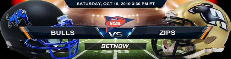 Buffalo Bulls vs Akron Zips 10-19-2019 NCAAF Expert Picks and Odds