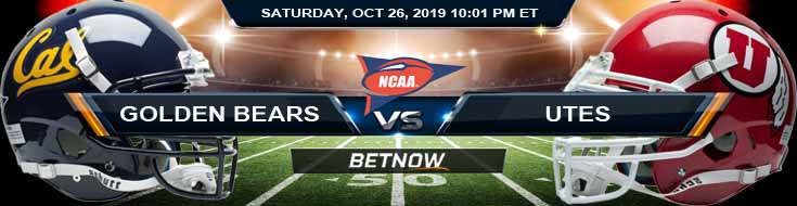 California Golden Bears vs Utah Utes 10-26-2019 Odds Picks and Previews