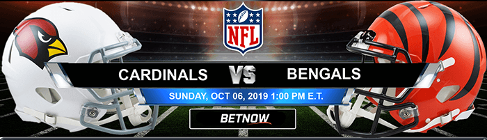 Cardinals Vs Bengals 10-06-2019 Odds, Picks and Preview