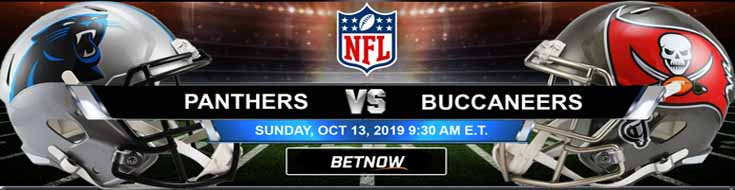 Carolina Panthers vs Tampa Bay Buccaneers 10-13-2019 Odds, Picks and Previews