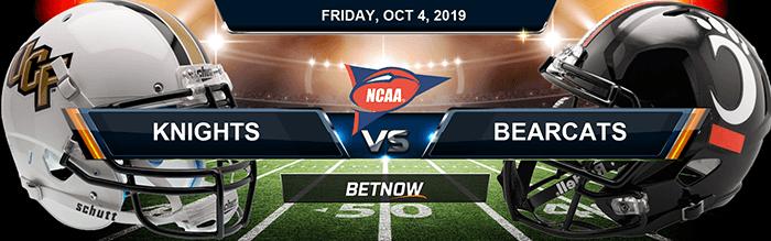 Central Florida Knights vs Cincinnati Bearcats 10-04-2019 NCAAF Betting Picks
