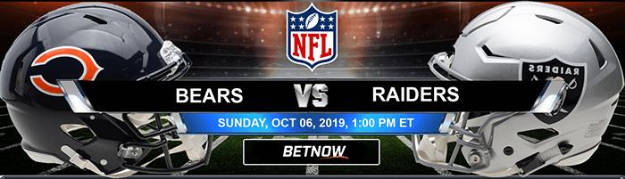 Chicago Bears vs Oakland Raiders 10-06-2019 Picks Predictions Previews