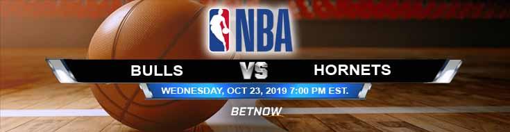 Chicago Bulls vs Charlotte Hornets 10-23-2019 Odds, Picks and Previews