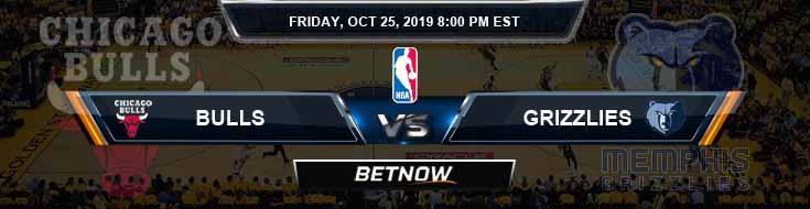 Chicago Bulls vs Memphis Grizzlies 10-25-2019 Picks Game Analysis and Prediction