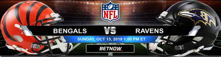 Cincinnati Bengals vs Baltimore Ravens 10-13-2019 Odds, Picks and Preview