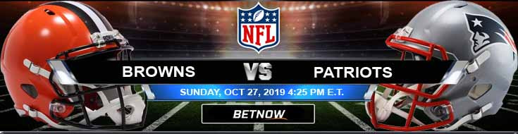 Cleveland Browns vs New England Patriots 10-27-2019 Spread Picks and Odds