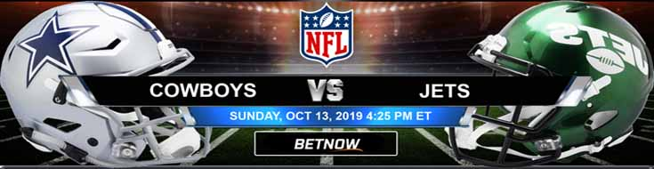 Dallas Cowboys vs New York Jets 10-13-2019 NFL Betting Spread